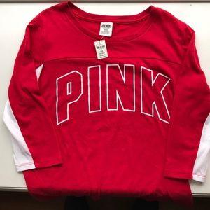Victoria's Secret Pink 3/4 Sleeve T-Shirt NWT